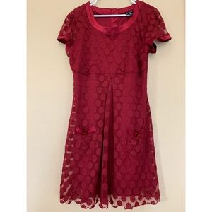 Red plus size dress! Great for holidays/weddings!